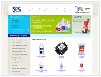 ecommerce website cleaning supplies