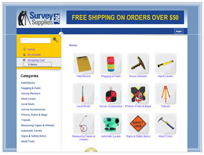 ecommerce website survey supplies