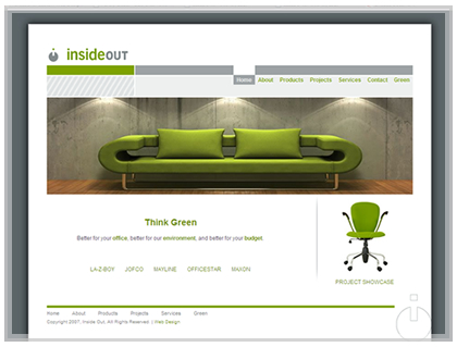 Interior Decorator Office Web Site Design.
