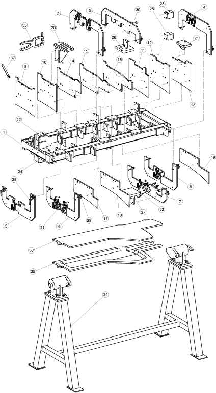 technical assembly illustration