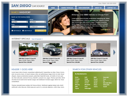 Auto Dealership Website Design Car Dealer Webdesign Car Auction Websites