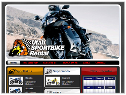 web design sport bike