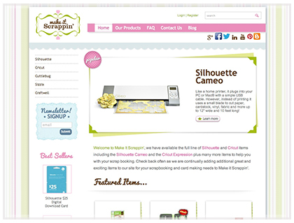 Scrapbook Ecommerce Design