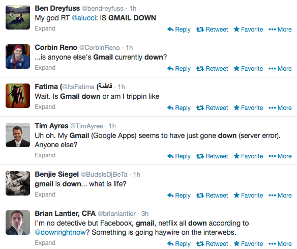 OMG Gmail Is Down