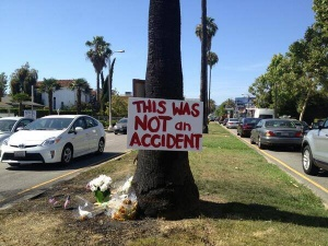 Sign at Site of Michael Hastings Crash