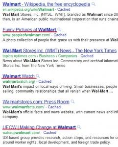 Walmart PR example
