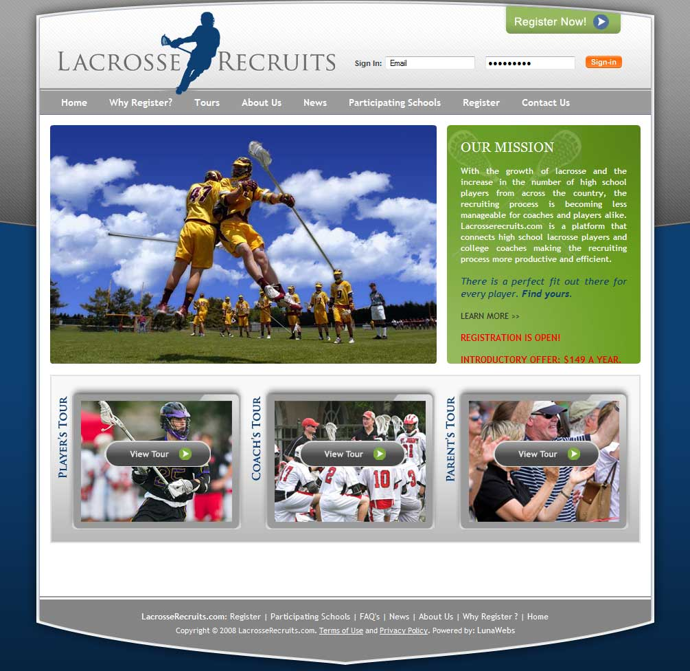 lacrosserecruits.com launched!